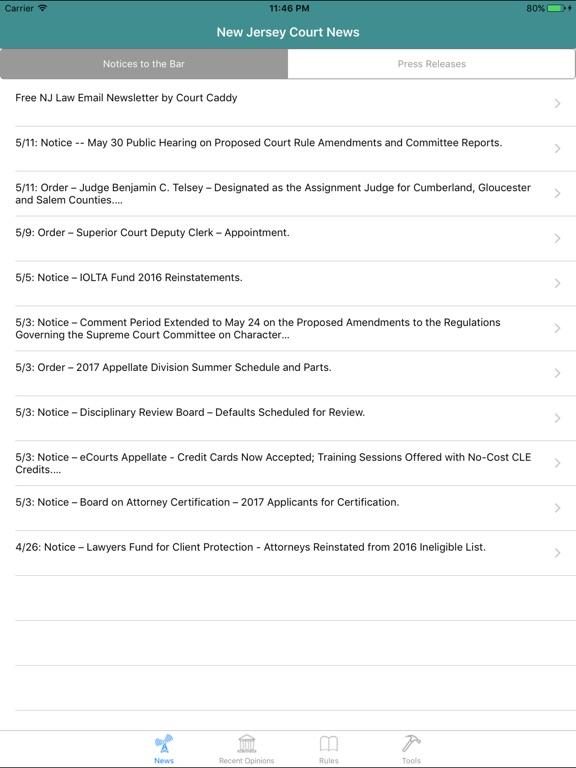 Court Caddy: NJ Attorney App | App Price Drops