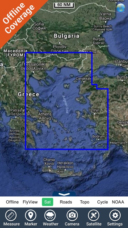 Marine: Aegean Sea (North) HD - GPS Map Navigator screenshot-4