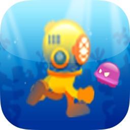 Deep Ocean Runner At The Ground Of The Deep Sea