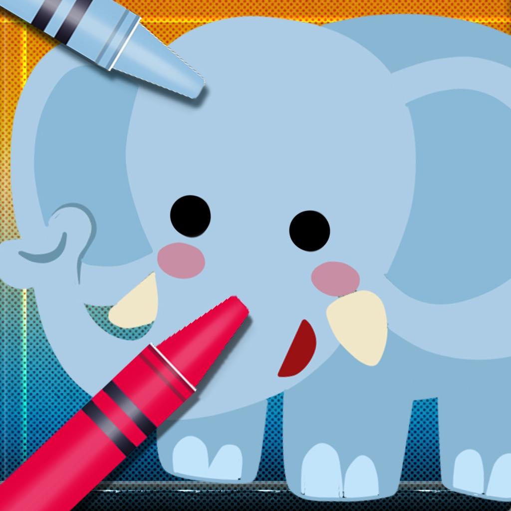 Animal Vocab & Paint Game - Kids painting activity hack