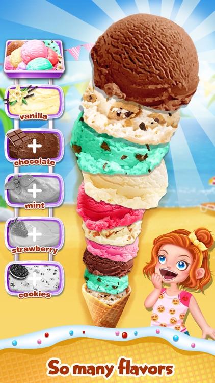 Summer Frozen Ice Cream - Icy Desserts Food Maker