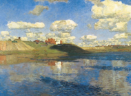 Isaac Levitan Artworks Stickers