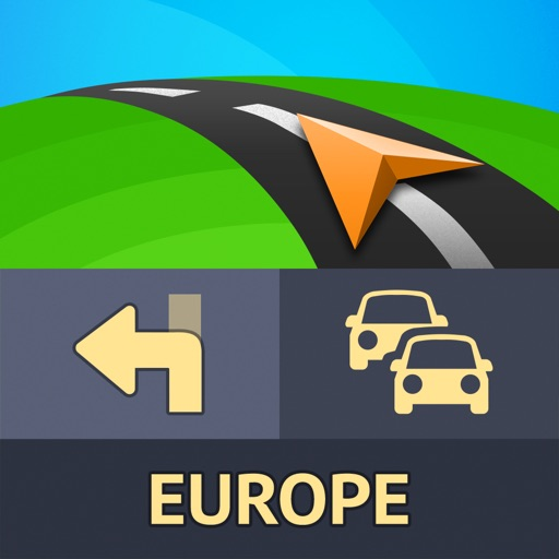 Sygic Europe: GPS Navigation, TomTom Offline Maps app logo