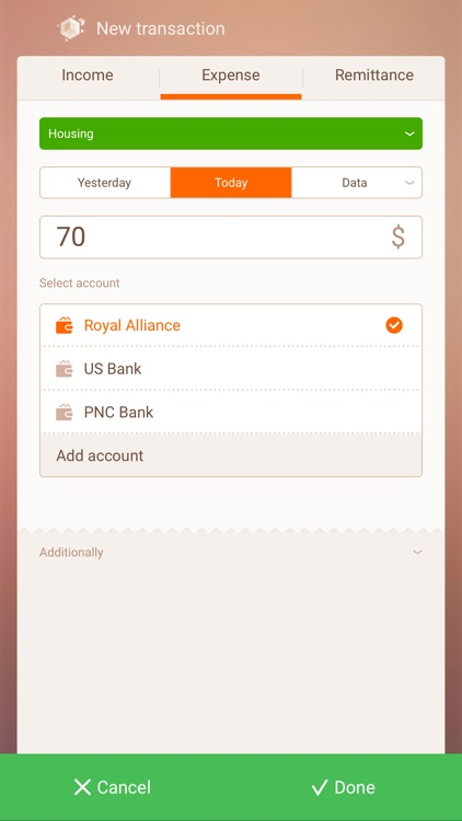 Cubux-Money manager and budgeting tools with sync screenshot-3