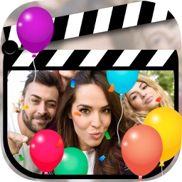 Birthday video editor with animations