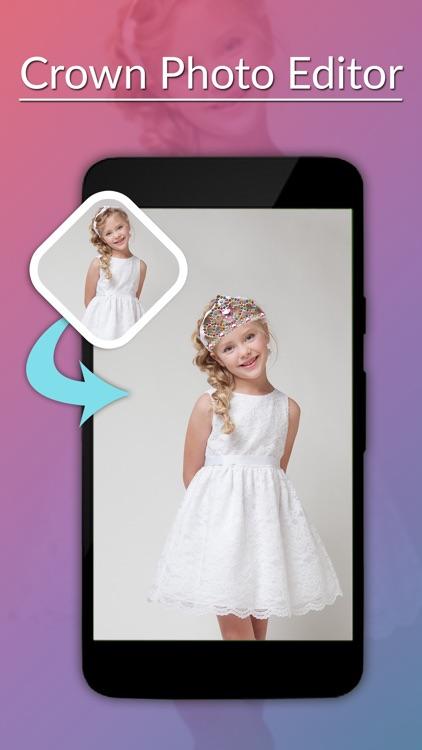 Crown Photo Editor -Crown Camera stickers screenshot-4