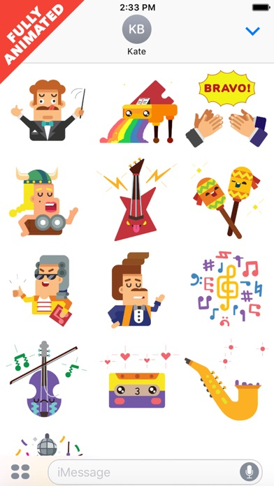 MusicLuv - Animated Music Stickers   App Price Drops