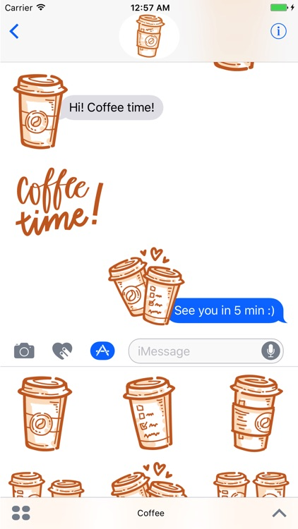 Coffee time! iMessage stickers