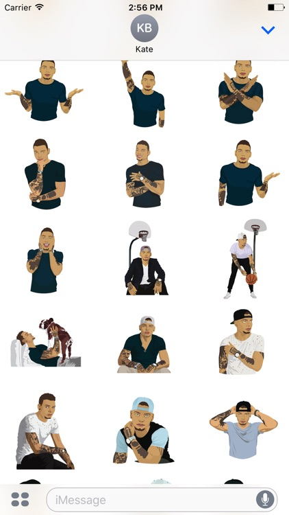 Kane Brown Sticker and Emoji Pack