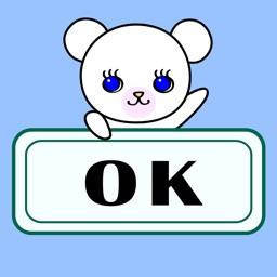 "Pretty Little Bears English Stickers ""Lola&Enzo"""