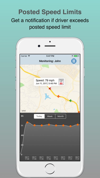 SafeDrive: Monitor speed of your teen driver screenshot-3