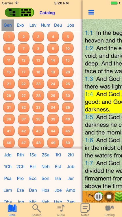King James Version Bible Audio offline Scriptures screenshot-2