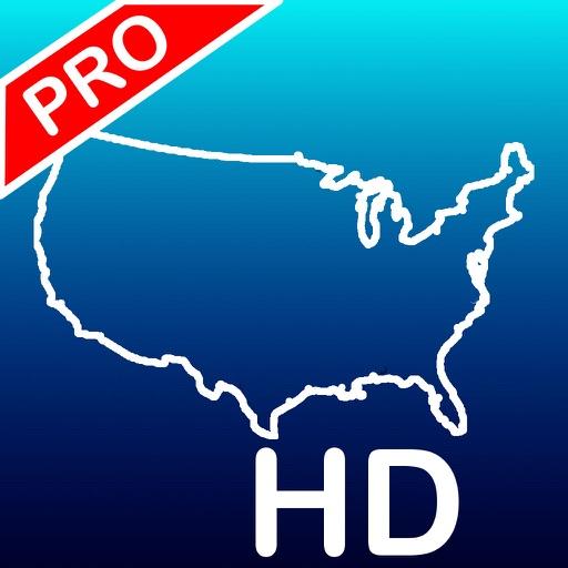 Aqua Map USA HD Pro - GPS Offline Nautical Charts app logo