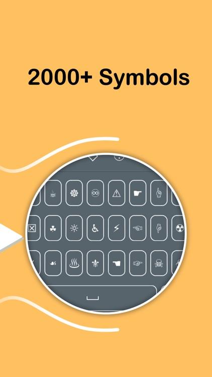 Symbol Keyboard - Unicode Symbols Characters Signs screenshot-3