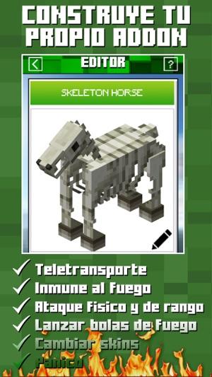 Addons Builder For Minecraft PE En App Store - Skin para minecraft pe fuego