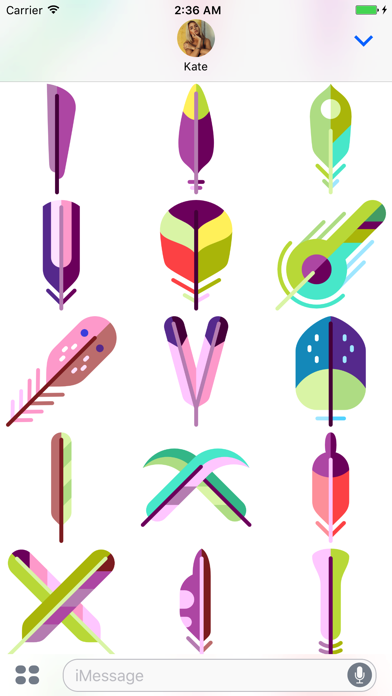 Feather Stickers screenshot four