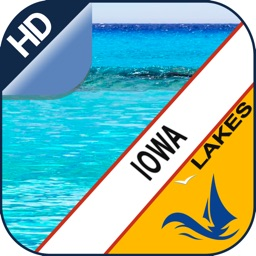IOWA lakes GPS offline nautical chart for boaters