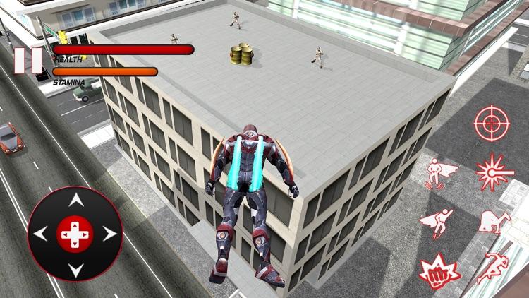 Flying Super Hero Fight Real City Criminals