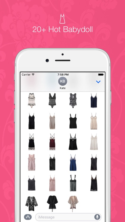 Sexy Lingerie - 120+ Glamour Stickers for iMessage screenshot-4