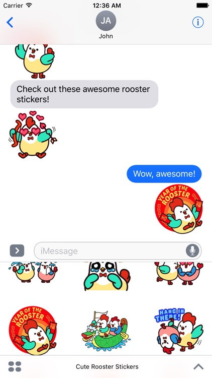 Cute Roosters Stickers screenshot-4
