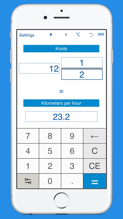 Knots / Kilometers per hour Converter