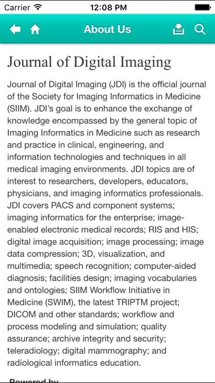 Journal of Digital Imaging screenshot-3
