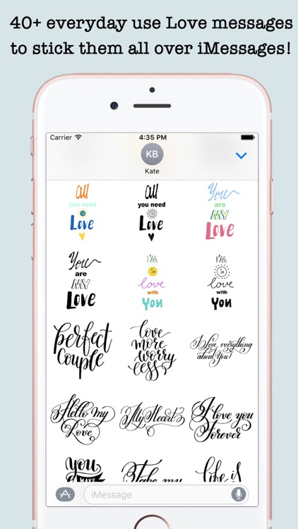 Love Quotes Stickers For iMessage