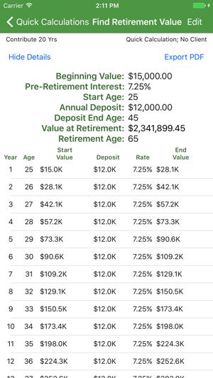 savings estimator on the app store