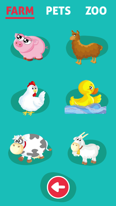 Cute Animals - Learn Animal Sounds, Noises & Names screenshot one