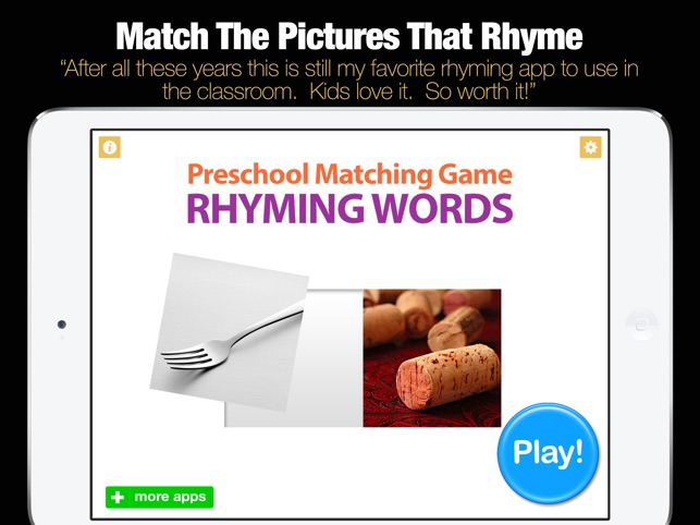 rhyming words on the app store