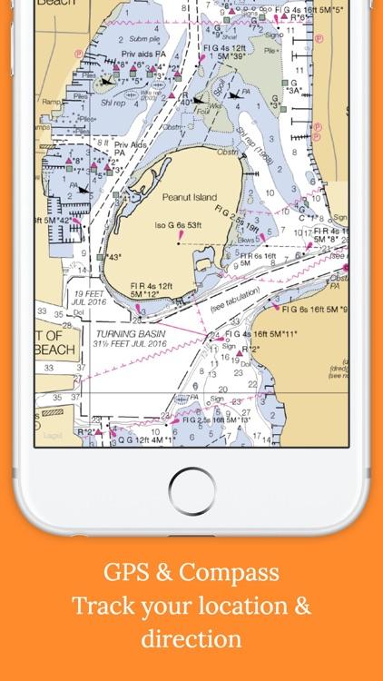 Marine : South Florida Offline GPS Nautical Charts screenshot-3
