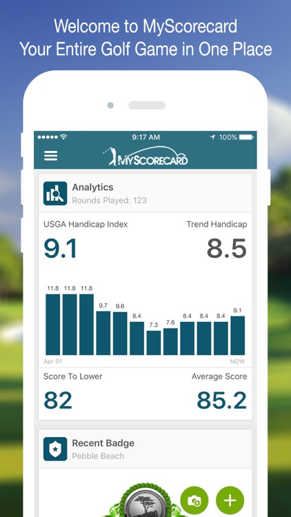 MyScorecard:USGA Handicap, GPS Rangefinder, League