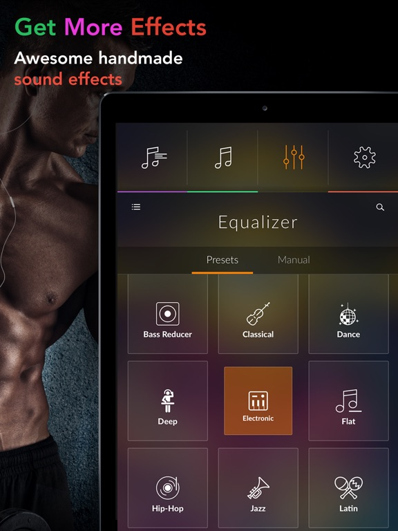 Equalizer+  - volume booster, great sound effects and visualizer for music fans screenshot