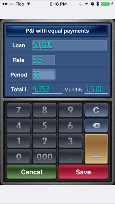 Ez Loan Calculator review screenshots