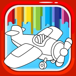 Airport Painting Games Coloring Book Edition