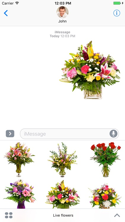 Live flowers for the holiday