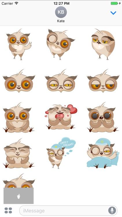 Amusing Owl Stickers
