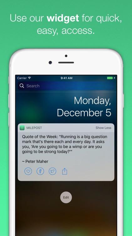 MilePost - Running Quotes, Motivation, Run Daily screenshot-3