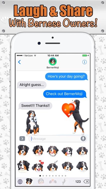 BernerMoji - Bernese Mountain Dog (Berner) Emojis screenshot-3