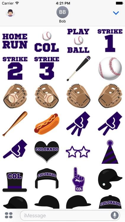 Colorado Baseball Stickers & Emojis screenshot-3
