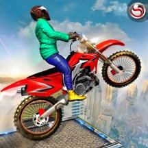 City Rooftop Bike Stunts Rider Simulator