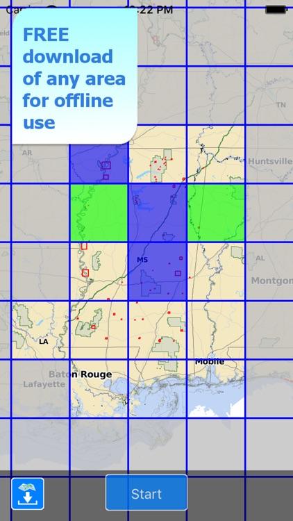 Aqua Map Mississippi MS Lakes HD - Nautical Charts screenshot-4