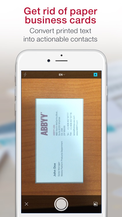 Business Card Scanner & Reader & Contacts Manager