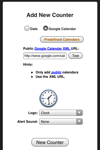 Screenshot of CountDownr