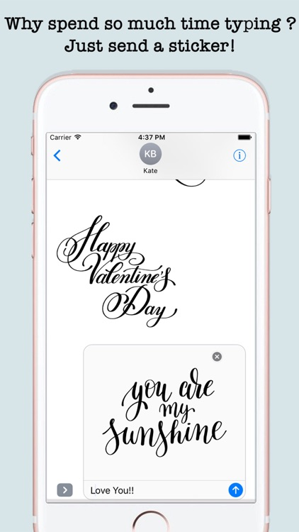 Love Quotes Stickers For iMessage screenshot-4