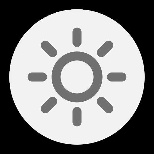 Brightness menu bar | Change display luminosity