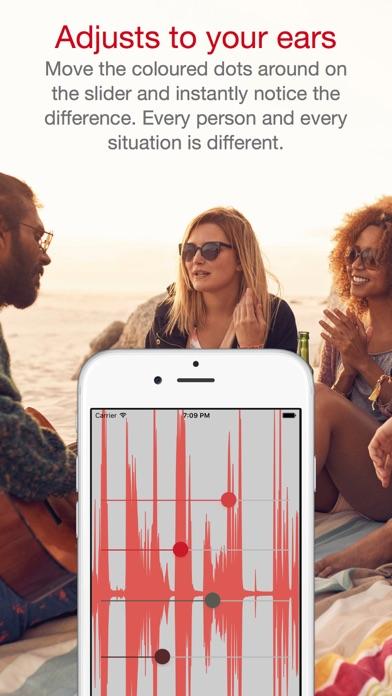 hearingOS 補聴器スクリーンショット