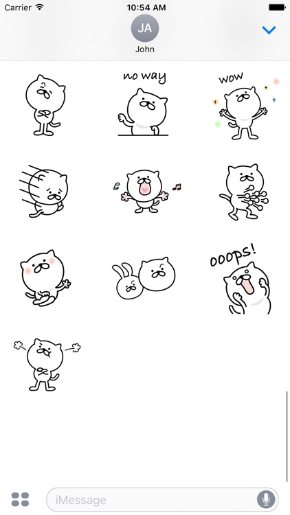 Pretty Cat Sticker 3 screenshot-3