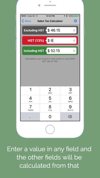 Ontario Sales Tax Calculator - HST (GST & PST) screenshot-3