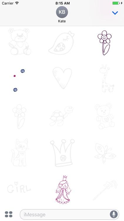 Animated Cute Children Stickers screenshot-3